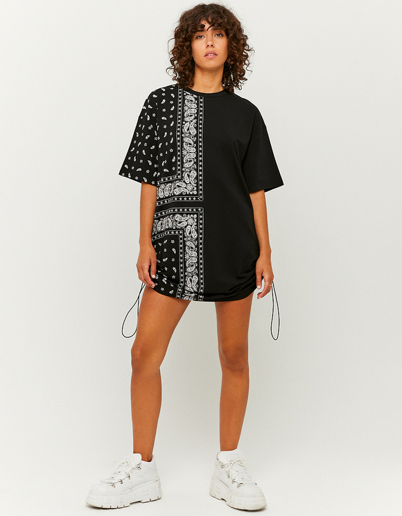 Grey Short Sleeves Mini Dress