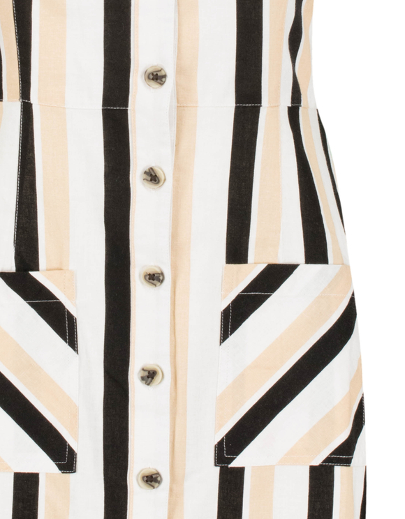 Striped Off Shoulders Dress