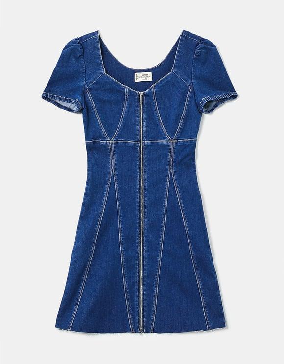 Stretch Denim Mini Dress