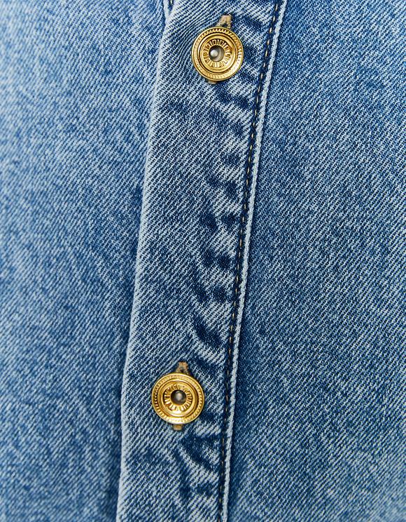 Robe Chemise en Jean avec Ceinture