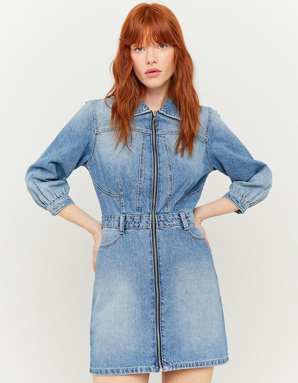 Jeansowa sukienka koszulowa