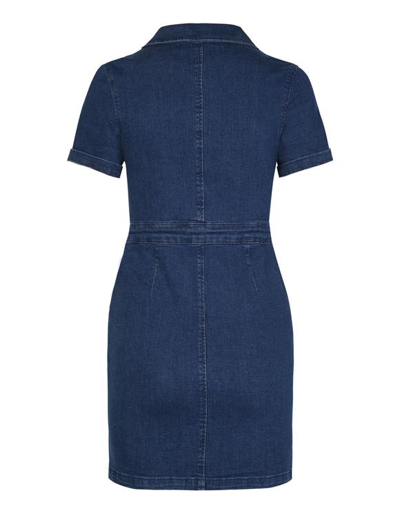 Niebieska jeansowa sukienka