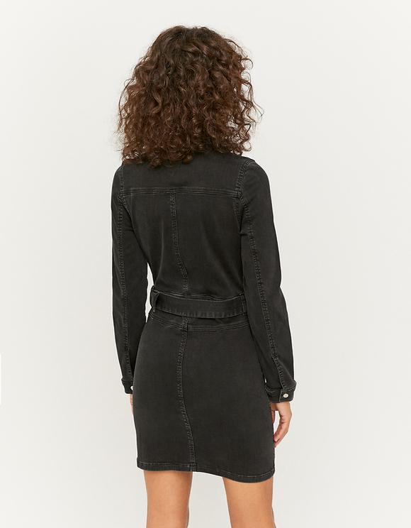 Utility Bodycon Denim Dress