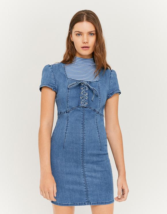 Jeansowa dopasowana sukienka