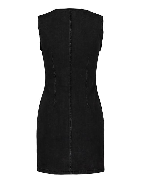 Figurbetontes Denim Kleid mit Knöpfen