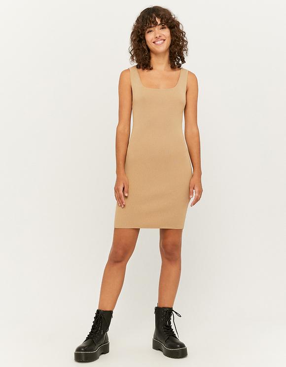 Beiges Kleid aus Strick