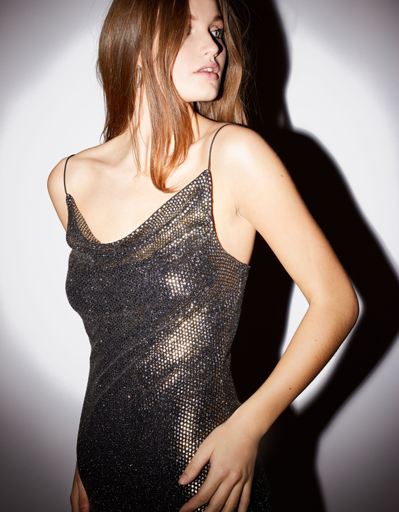 Golden Glitter Dress