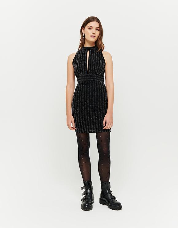 Ärmelloses Kleid aus Lurex
