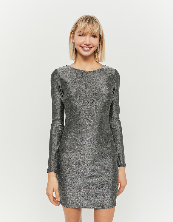 Grey Lurex Dress
