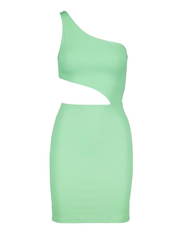 Robe Asymétrique Vert Fluo
