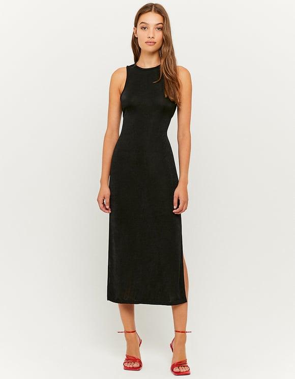 Black Long Sleeves Midi Dress