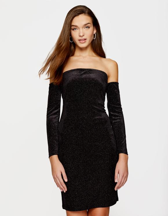 Black Glitter Dress