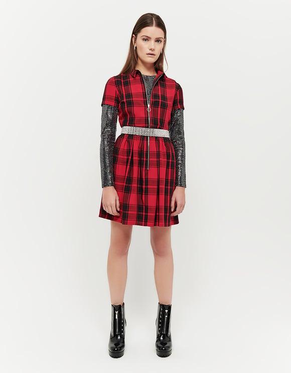 Vestito Rosso a Quadri