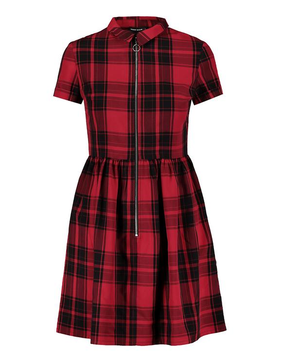 Robe Rouge à Carreaux