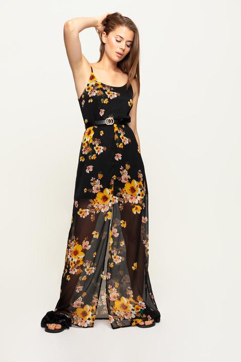 Robe Fleurie Noire
