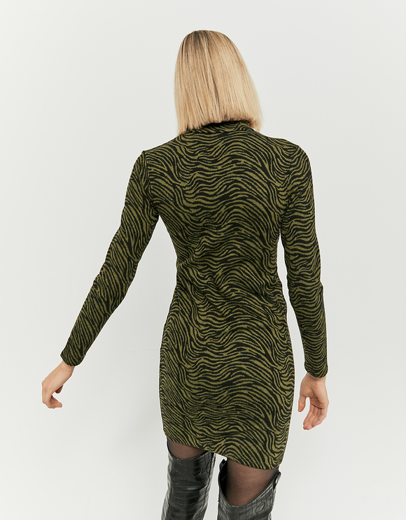 Green Zebra Dress