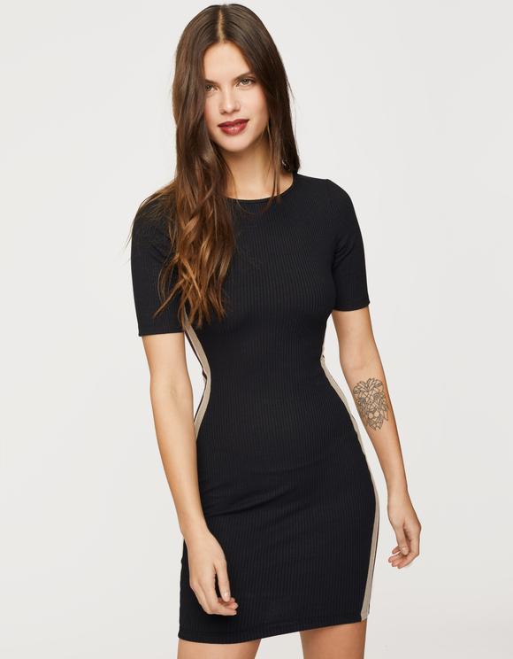 Black Side Stripe Dress