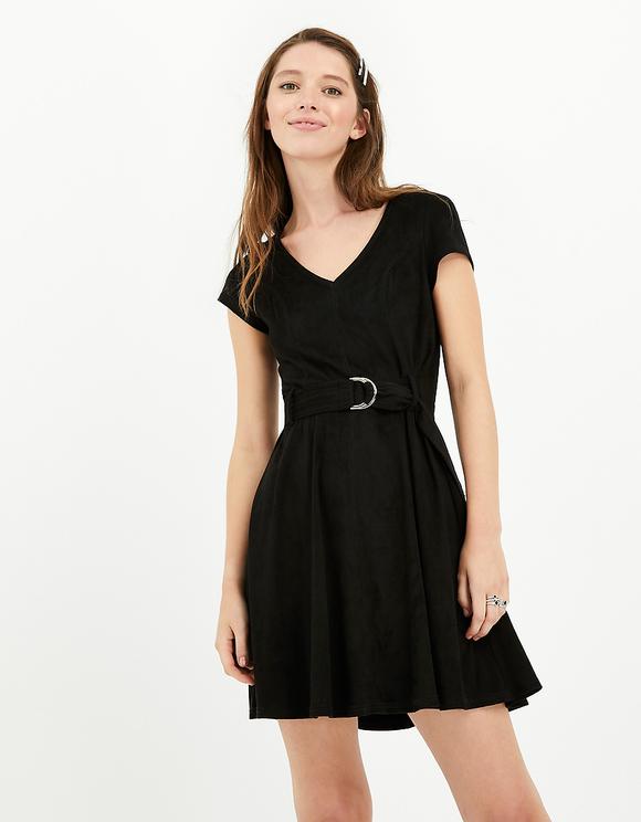 Czarna sukienka Skater