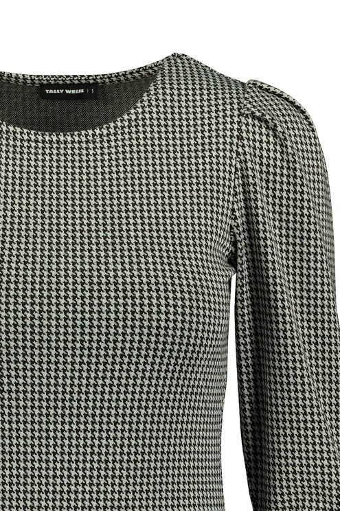 Grey Houndstooth Dress