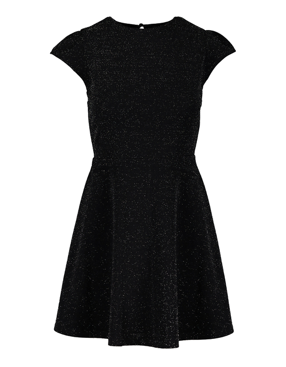 Robe Noire à Découpes