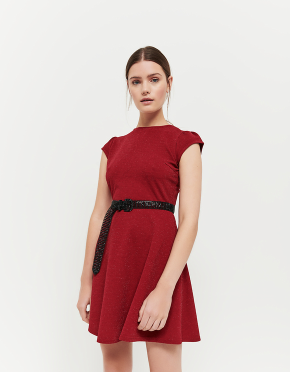 Red Dress with Cut Out