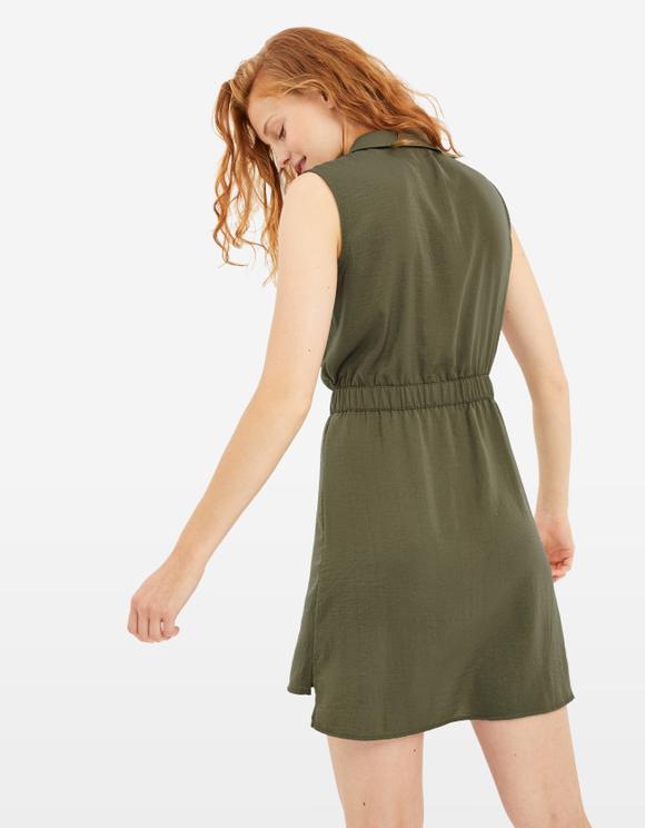 Khaki Shirt Dress
