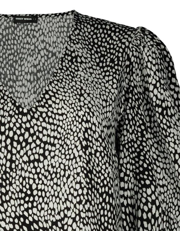 Dalmatian Print Midi Dress