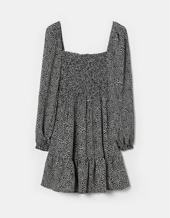 Dalmatian Shirred Bust Mini Dress