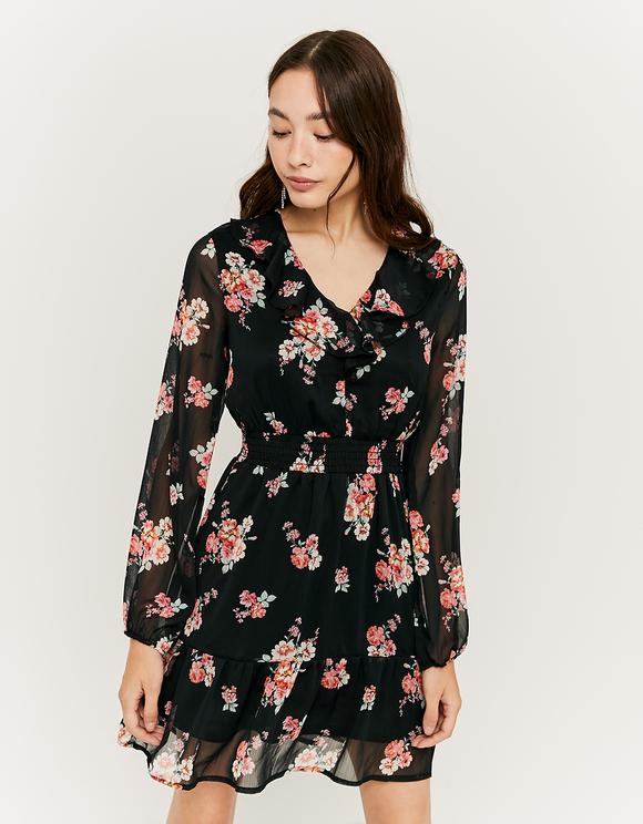 Kleid mit Blumen und Rüschen