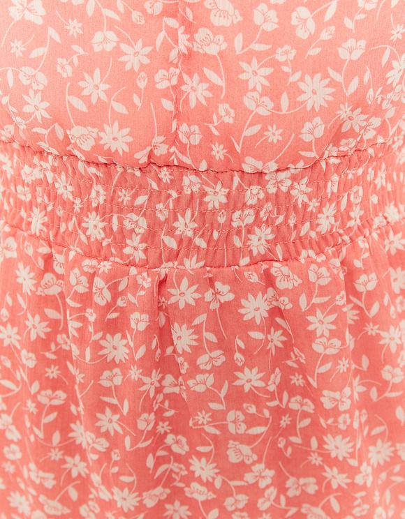 Robe Fleurie Volantée