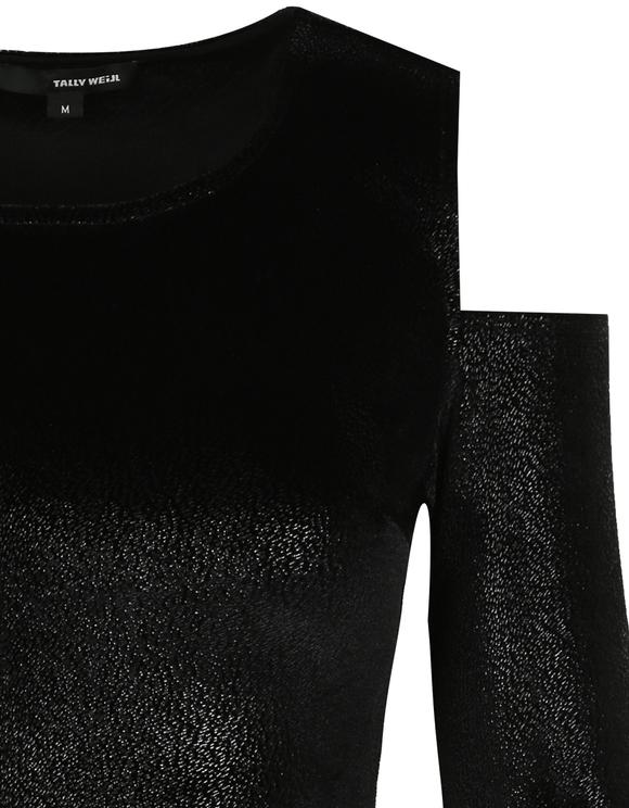 Robe Noire en Velour Scintillant