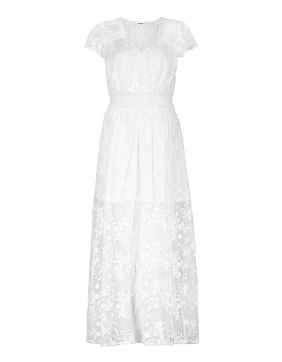 Vestito Lungo Bianco in Pizzo
