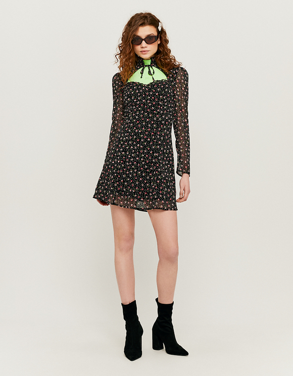 Confetti Floral Print Mini Dress