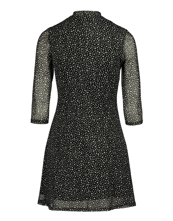 Robe Fleurie Col Montant