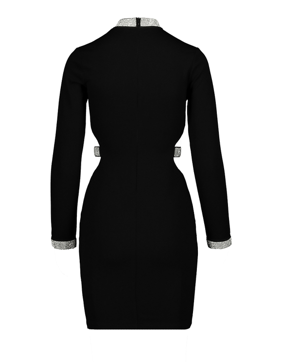 Black Dress with Cut Outs