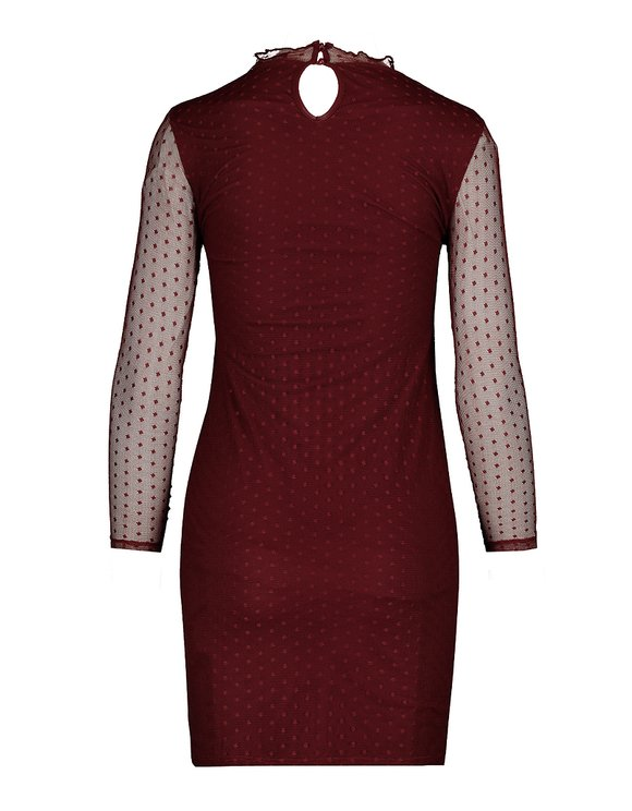 Robe Bordeaux en Mesh