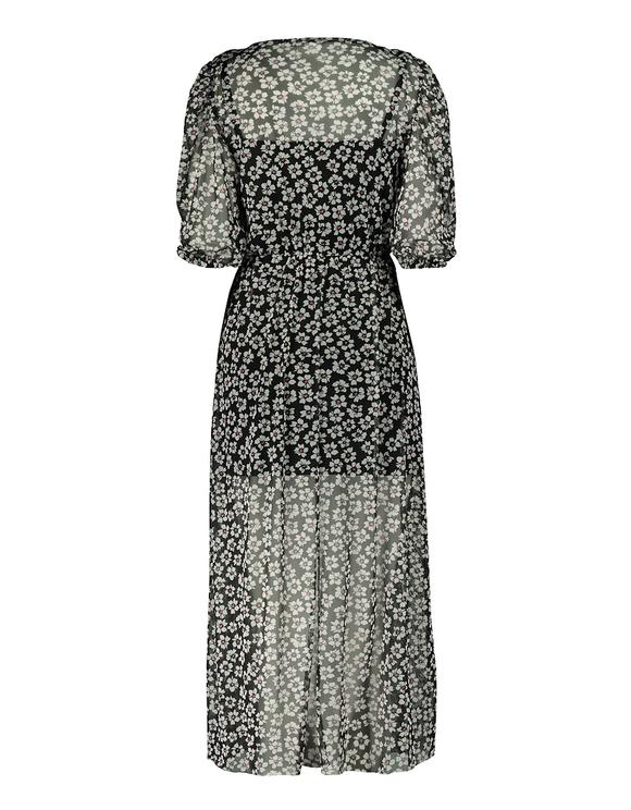 Mesh Floral Midi Dress