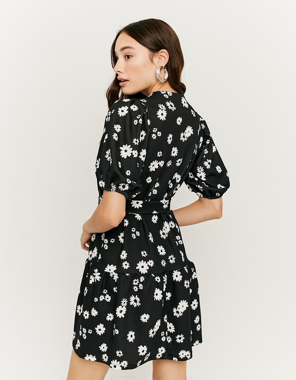 Robe Fleurie Manches Bouffantes