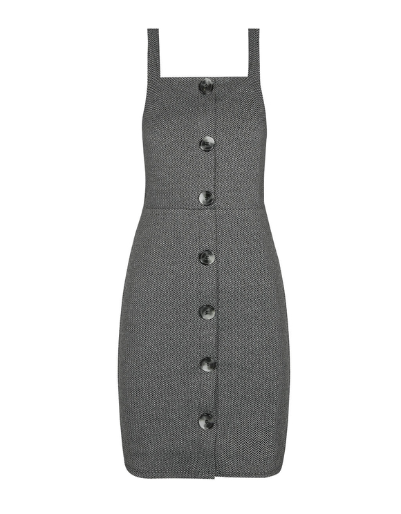 Grey Herringbone Dress