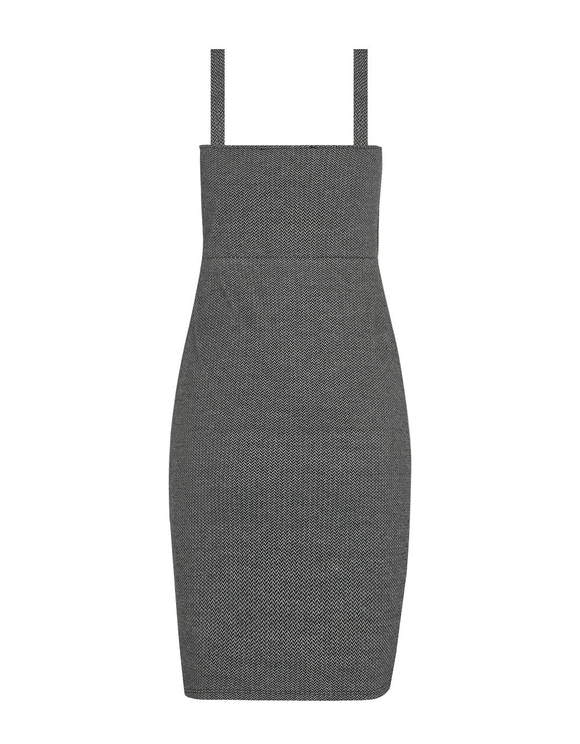 Grey Herringbone Dress