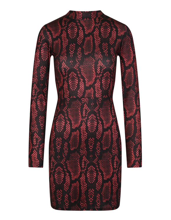 Burgundy Snake Dress