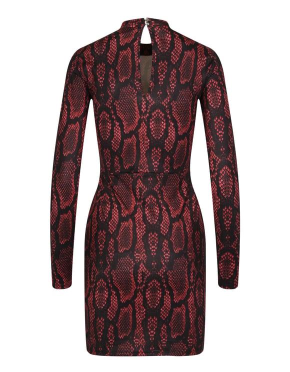 Robe Bordeaux Imprimé Serpent