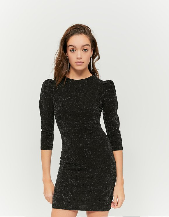 Black Dress with 3/4 Sleeves