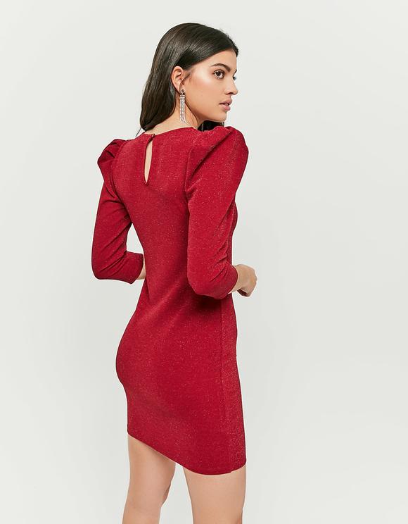 Vestito Rosso con Maniche a Tre Quarti