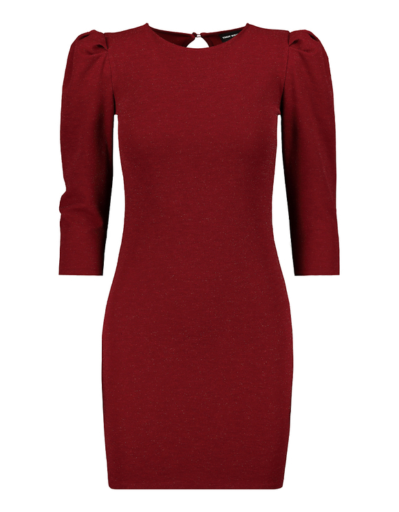 Red Dress with 3/4 Sleeves
