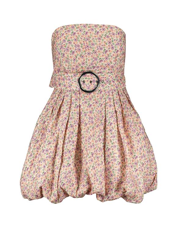 Mini Dress with Puff Skirt