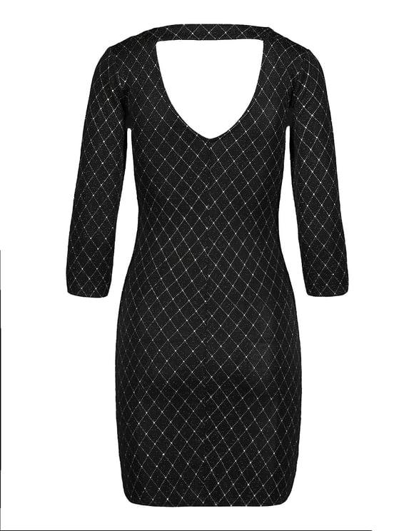Schwarzes Kleid aus Lurex