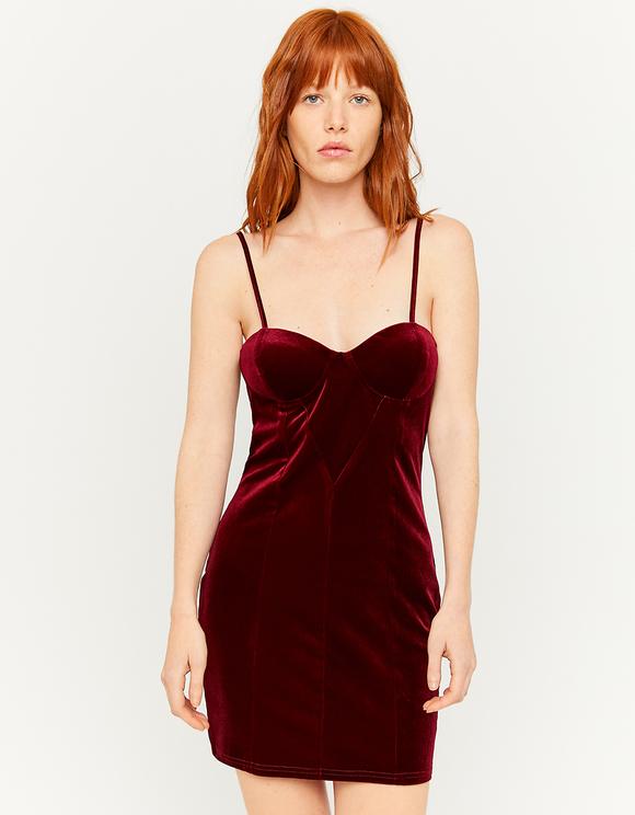 Velvet Strappy Mini Dress