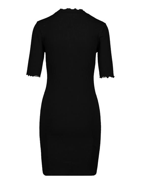 Robe Noire Ourlets Ondulés