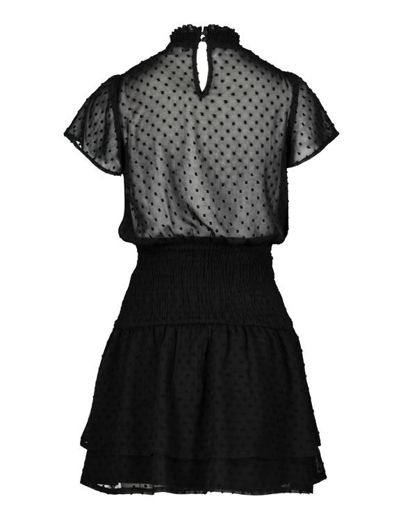 Leichtes Kleid mit Federstickerei